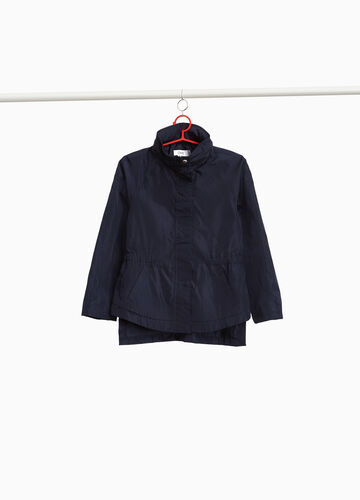 Parka with high neck and pockets