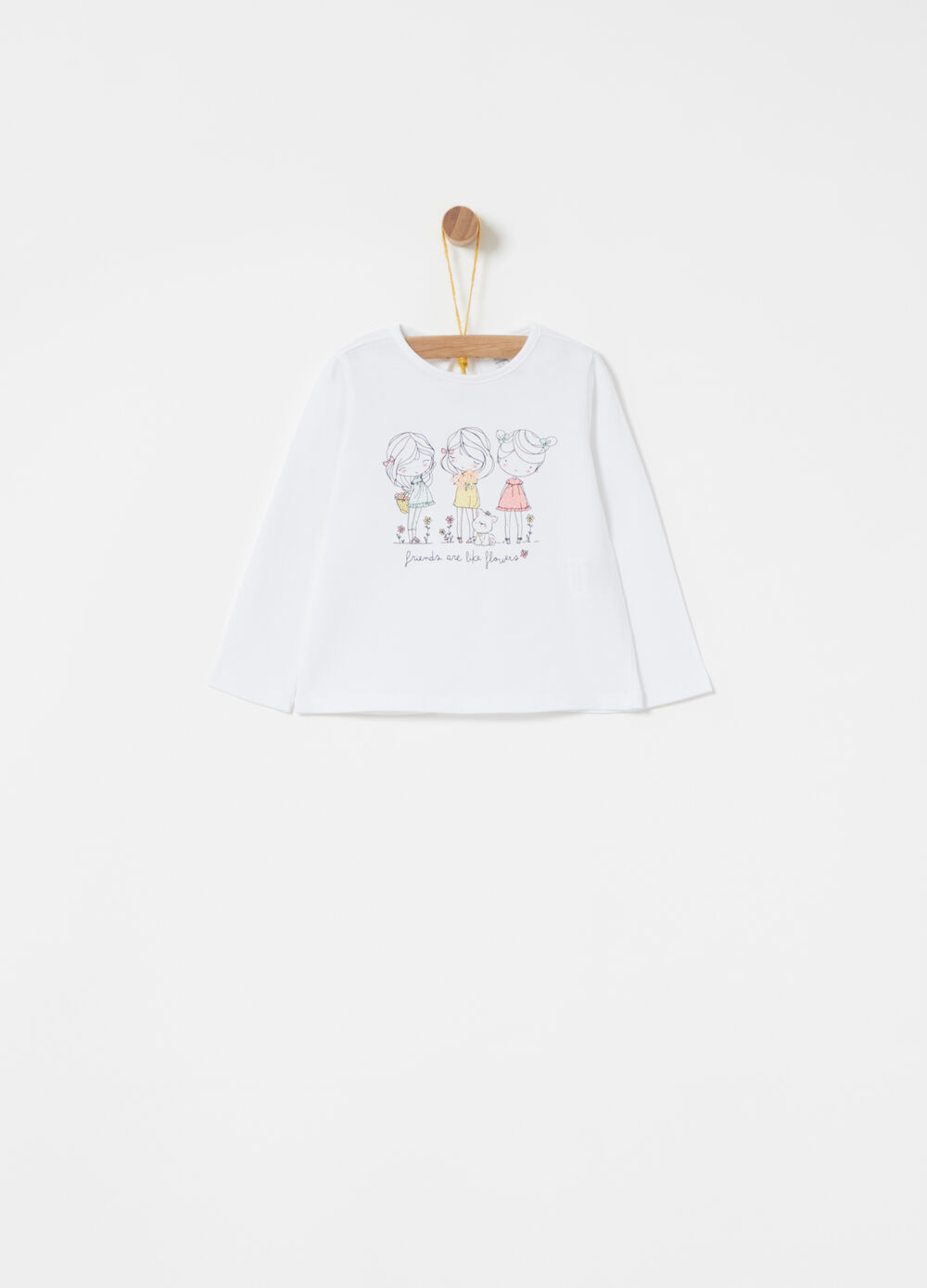Cotton jersey T-shirt with lettering print
