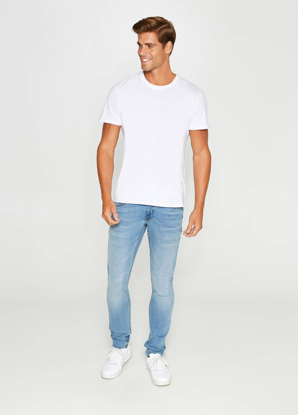 Jeans skinny fit con scoloriture
