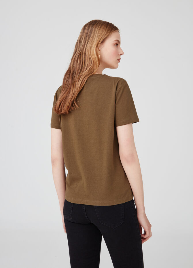 Biocotton T-shirt with Earth Day print