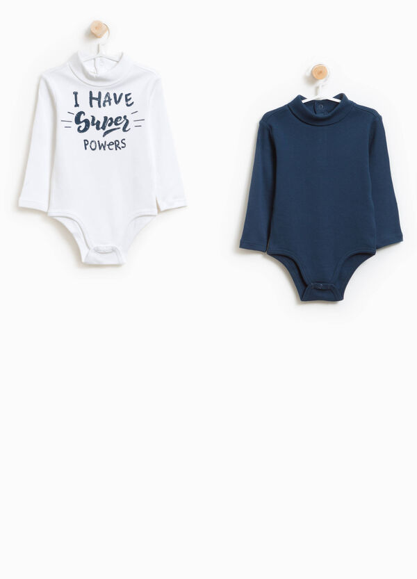 Two-pack solid colour and printed bodysuits in 100% cotton | OVS