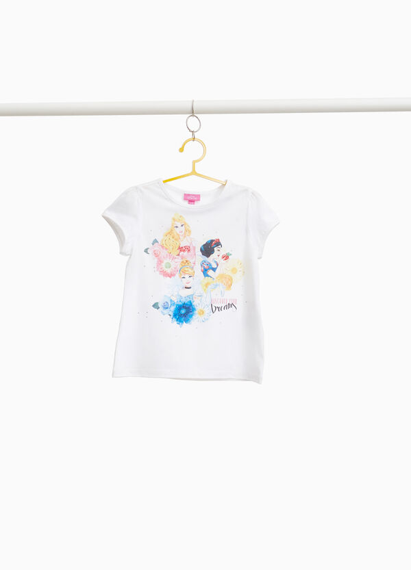 Stretch T-shirt with Disney Princess print