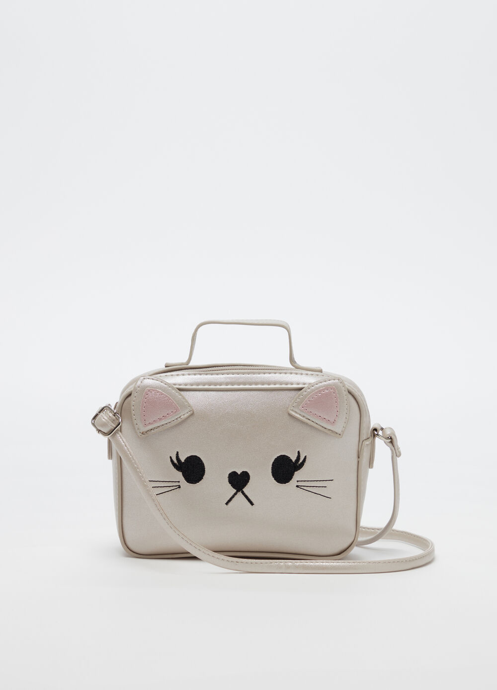 Shoulder bag with cat motif
