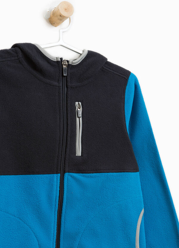 Two-tone sweatshirt with pockets and trim | OVS