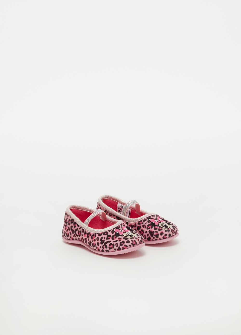 Slippers with Disney Minnie Mouse embroidery