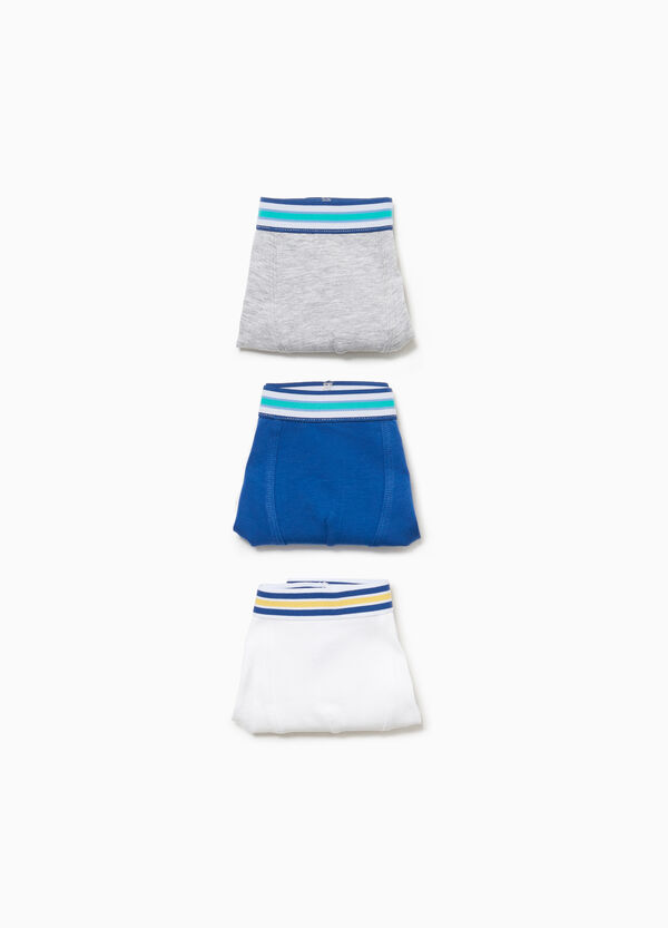 Three-pack stretch boxer shorts with striped waist
