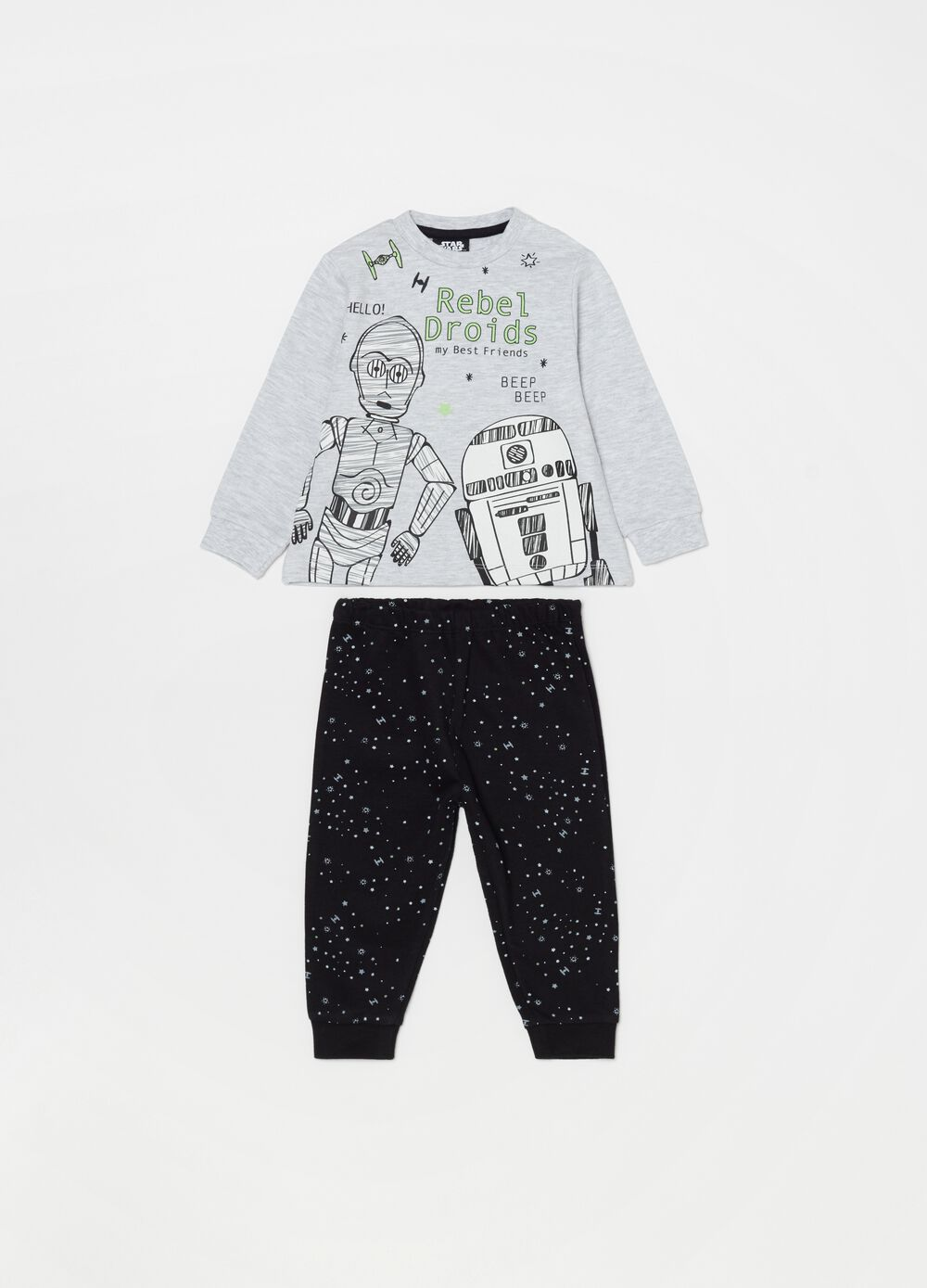 Star Wars crew neck top and trousers pyjama set
