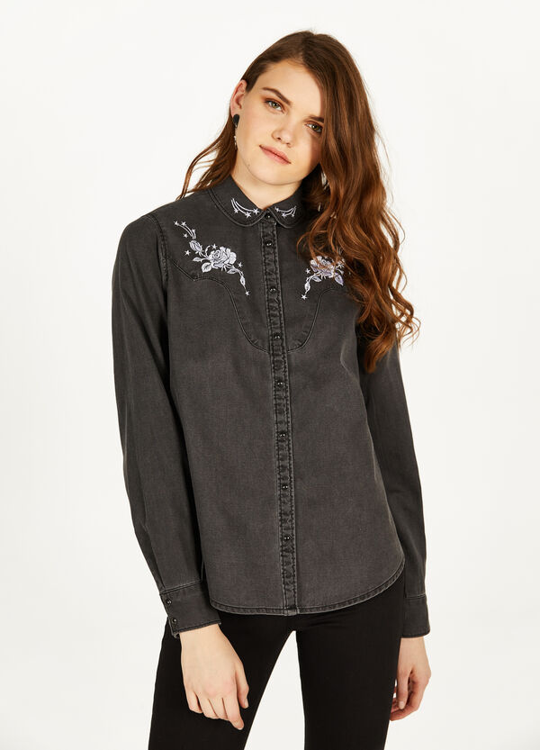 100% cotton shirt with embroidery