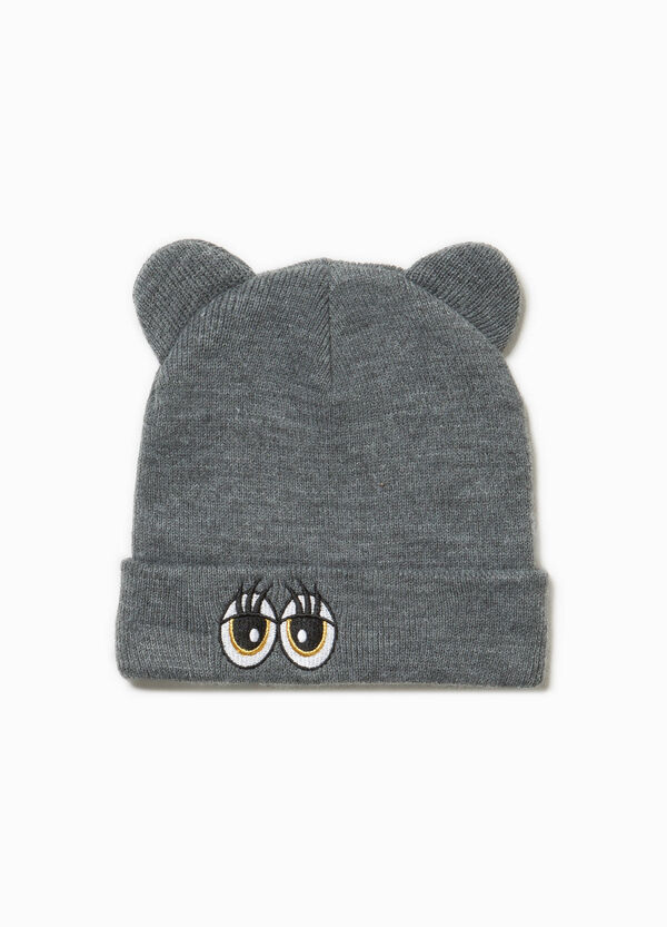 Beanie cap with ears and patch | OVS