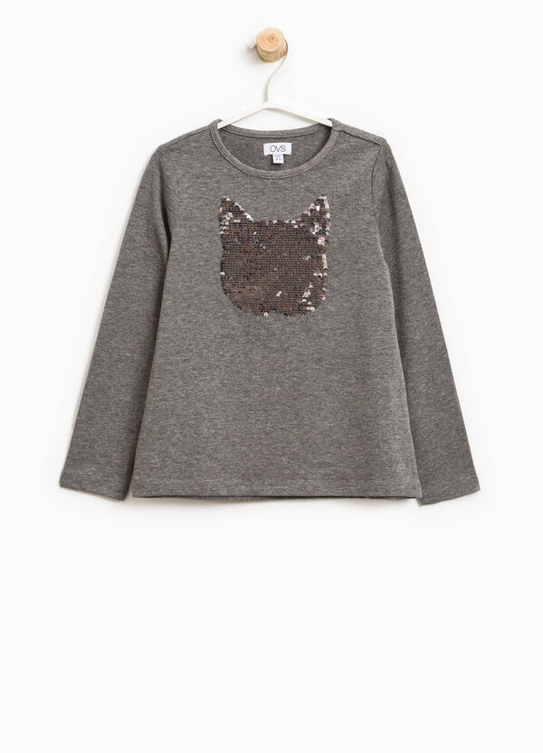 T-shirt with cat-shaped sequins   OVS