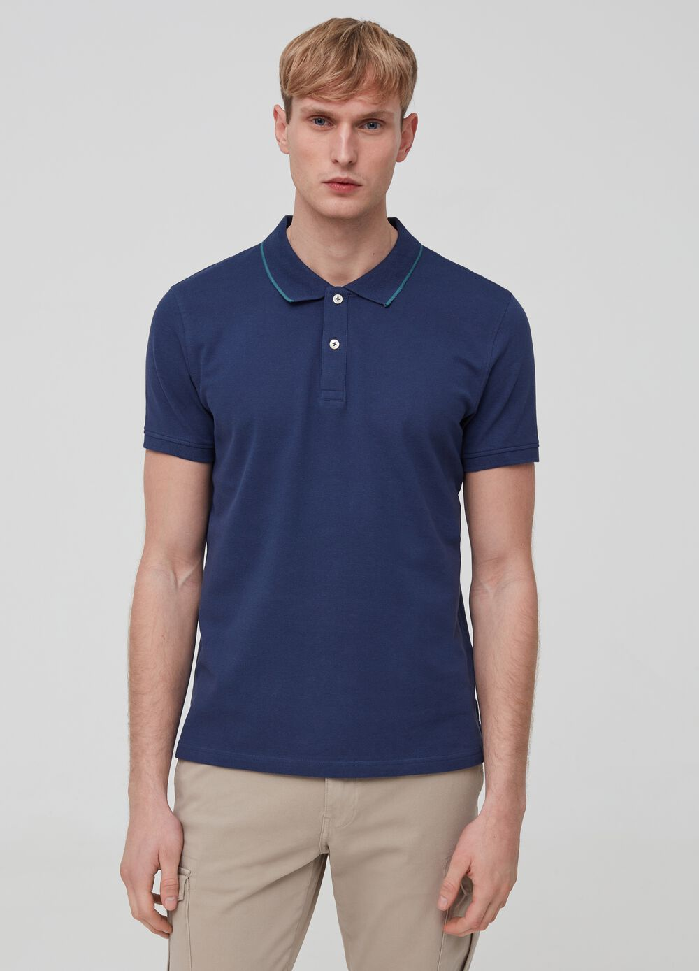 Two-pack polo shirt in 100% cotton