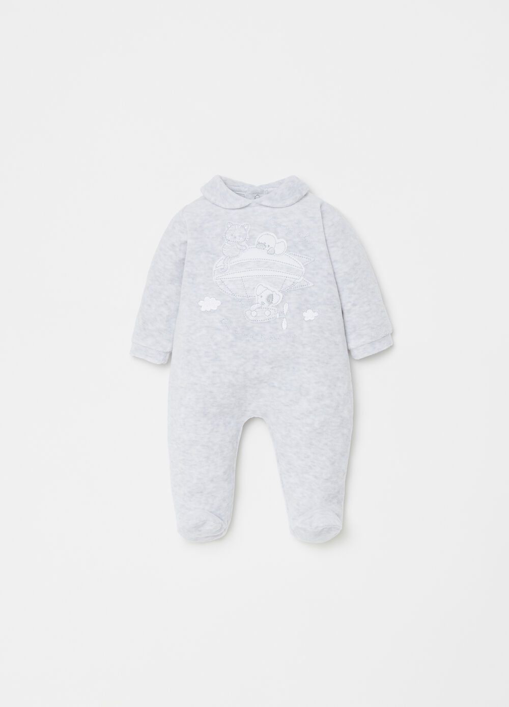 Mélange BCI onesie with feet