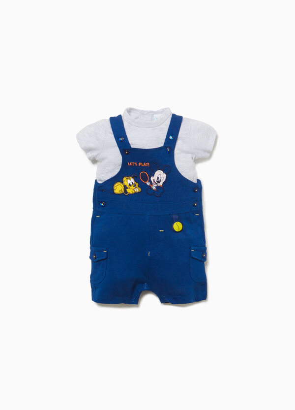 Mickey Mouse T-shirt and dungarees set