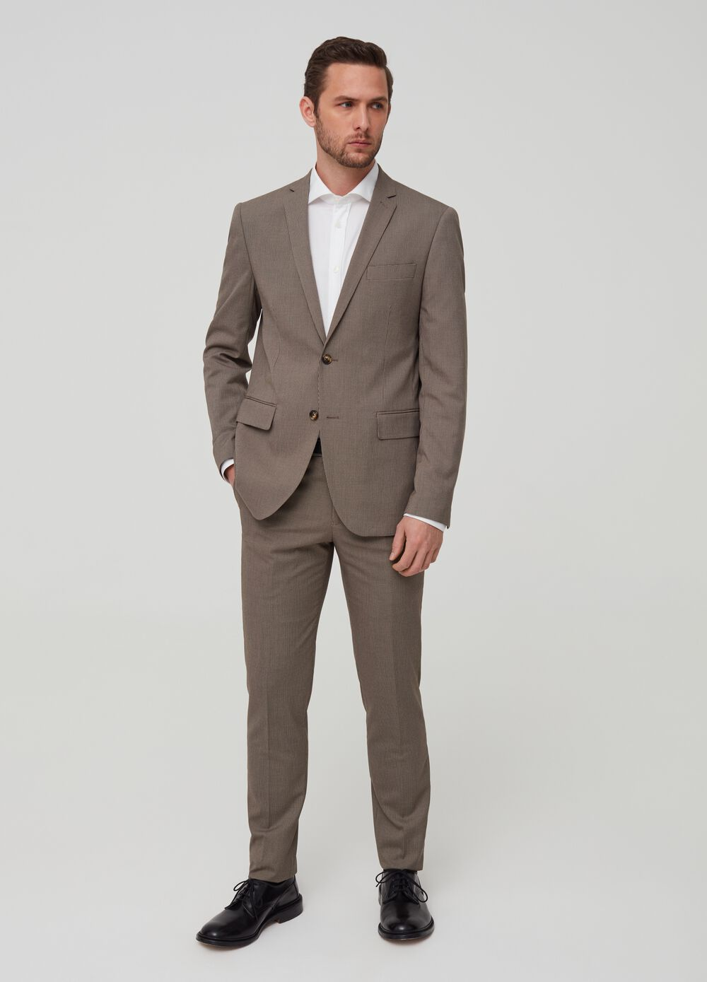 Blazer slim fit a micro quadri