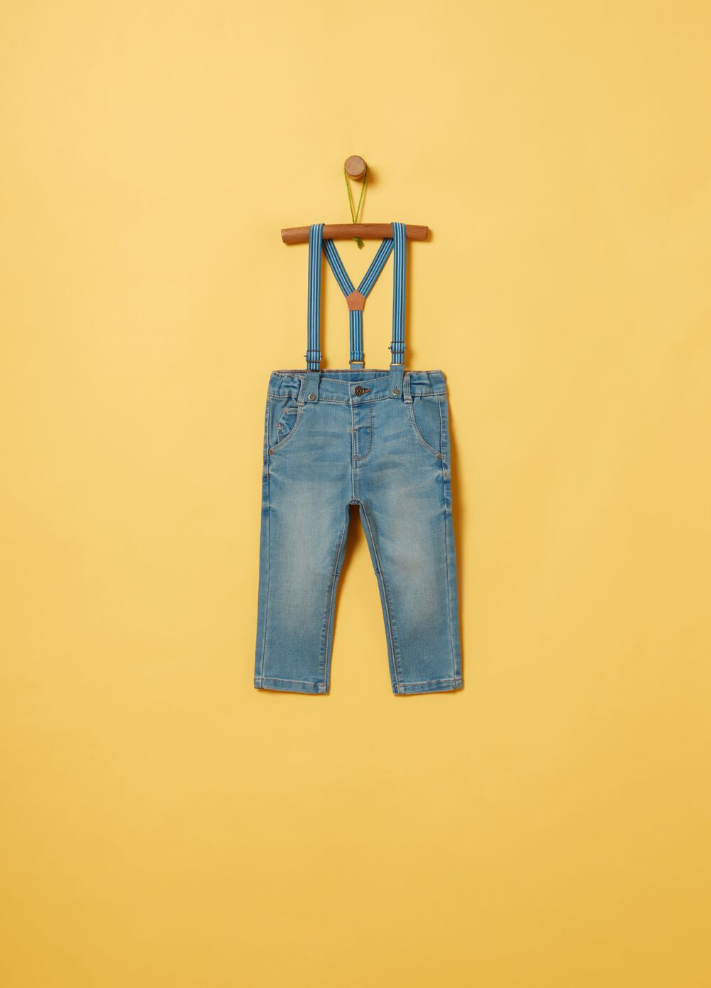 Regular-fit jeans with braces