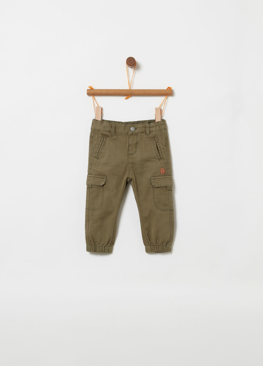 100% cotton cargo trousers with pockets