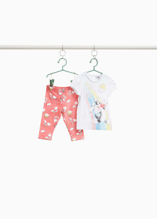 Stretch cotton Baby Sylvester outfit