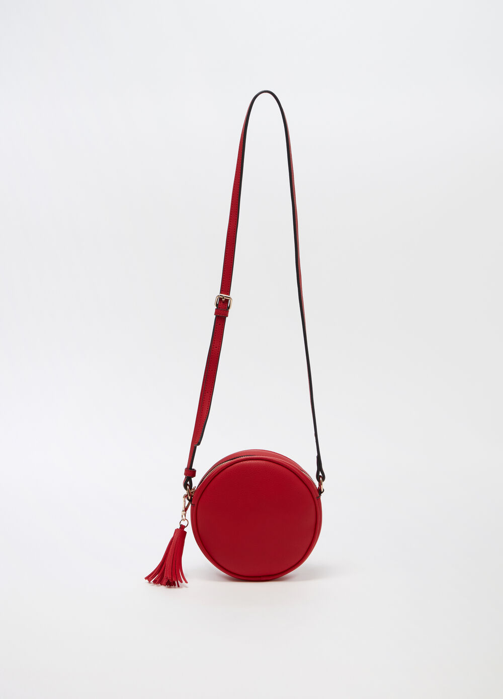 Crossbody circle bag with zip