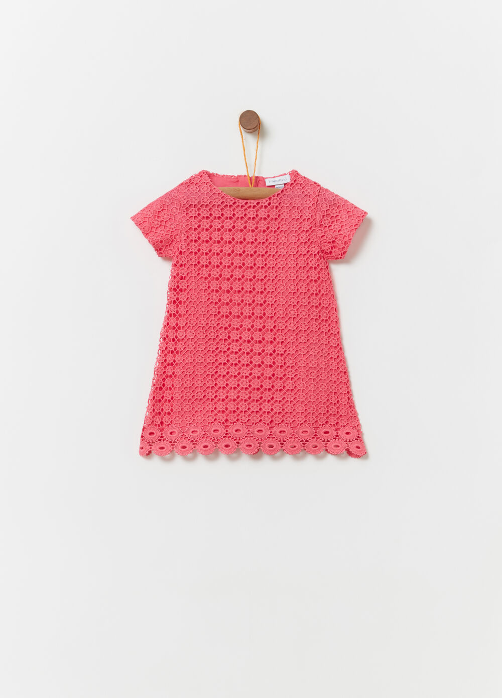 Lace dress with 100% cotton lining