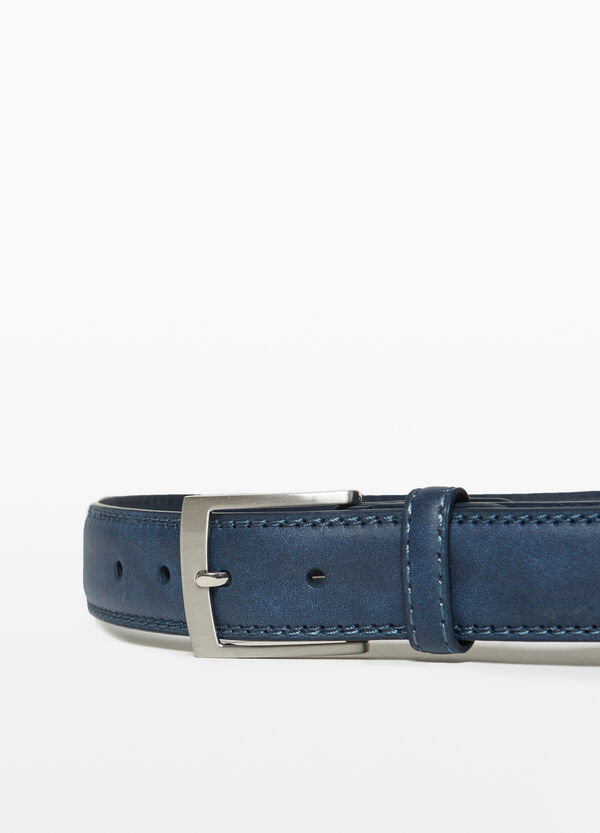 Solid colour belt with buckle