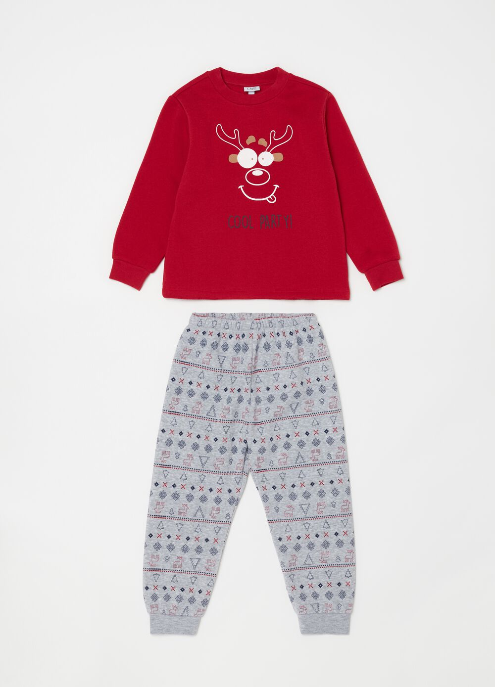 Long pyjamas with Christmas print and pattern