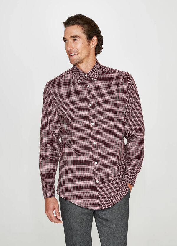 Formal checked cotton shirt
