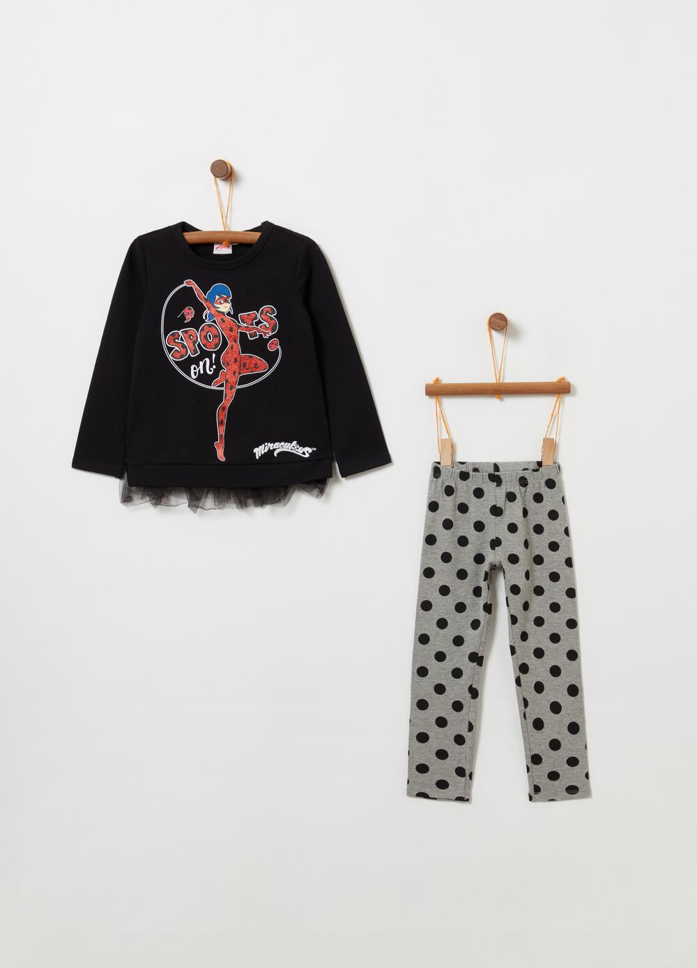 Ladybug jogging set with T-shirt and leggings