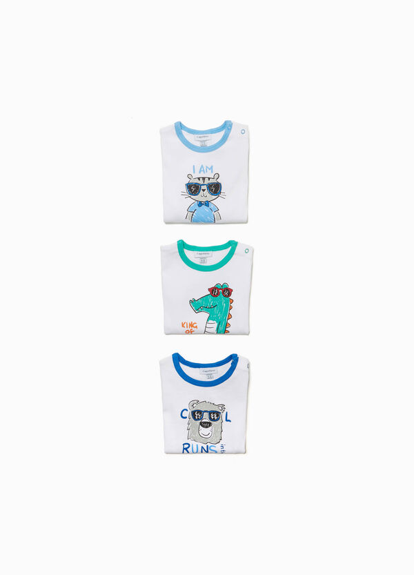 Set tre body cotone stampa animaletto