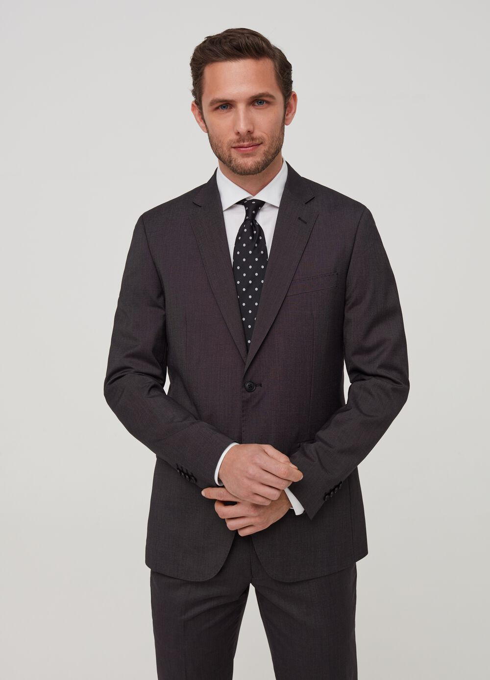 Blazer slim fit mélange