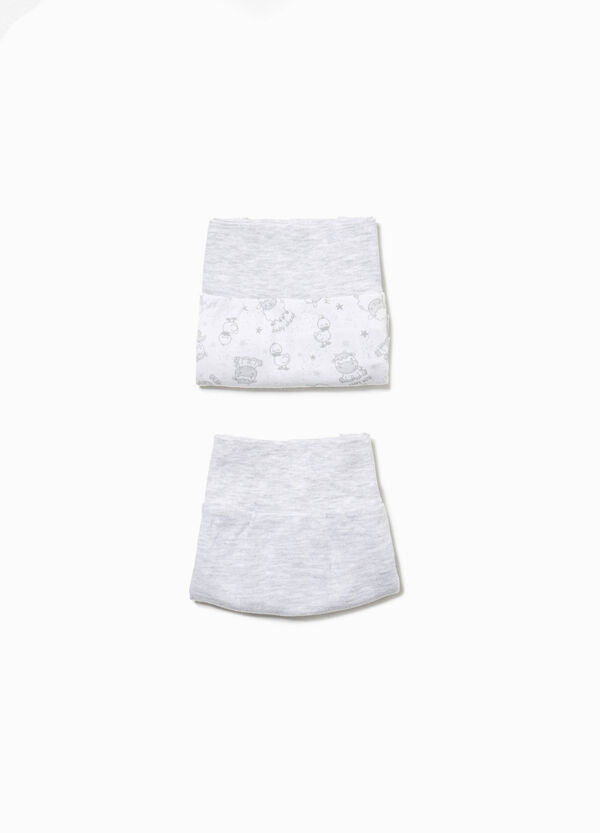 Two-pack briefs in 100% cotton with animals