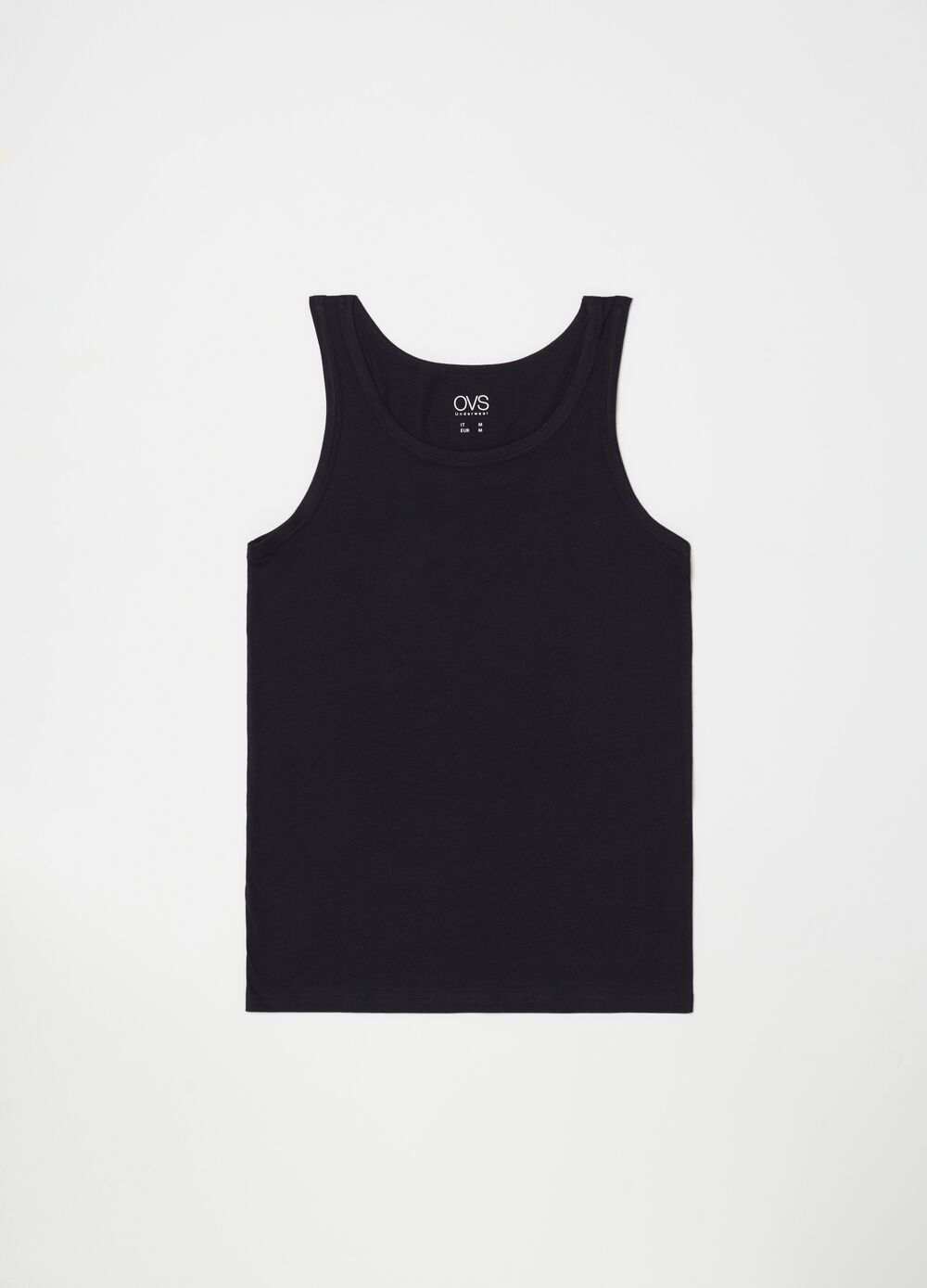 Two-pack racerback vests in 100% cotton