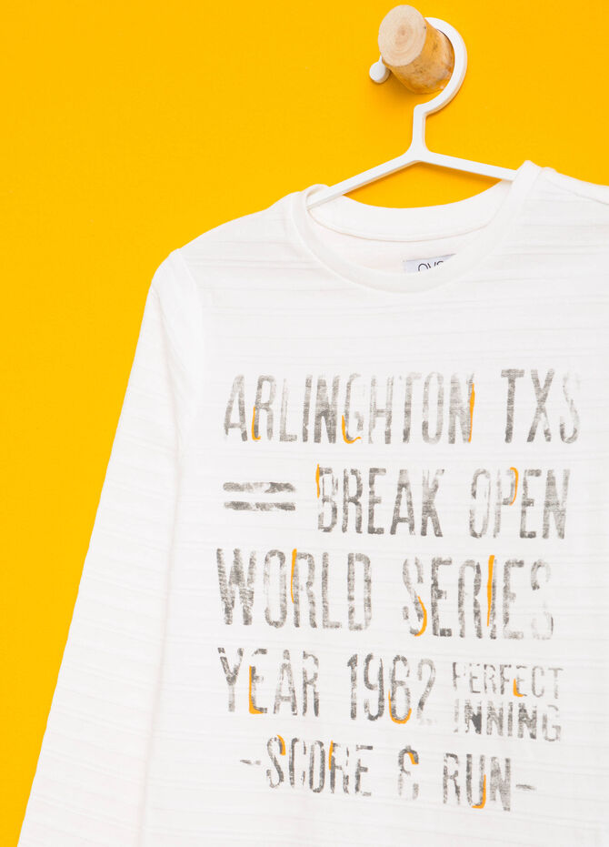 T-shirt puro cotone stampa lettering