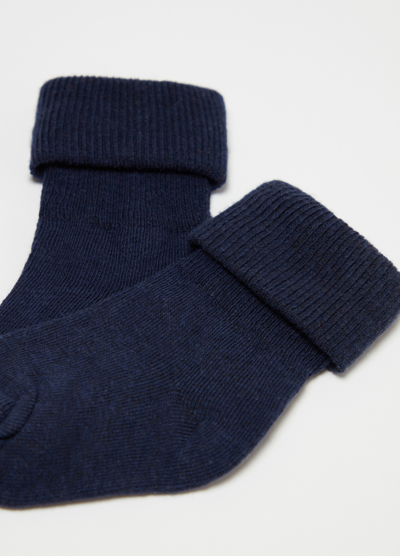 Short stretch organic cotton socks with fold image number null