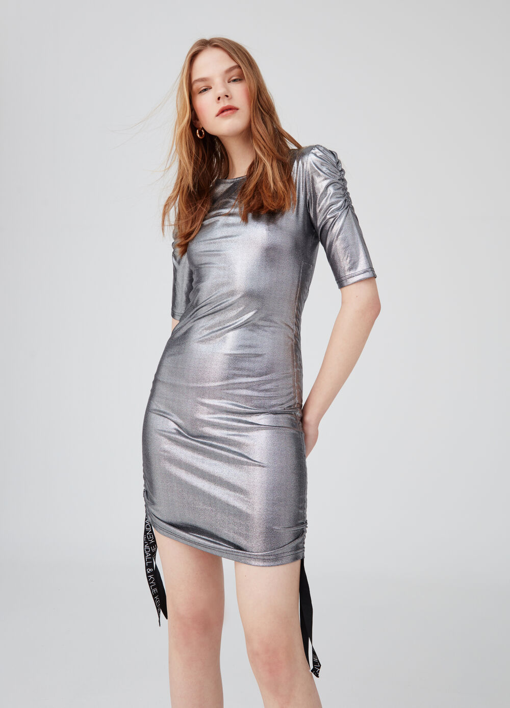 K+K for OVS tube dress with elbow-length sleeves