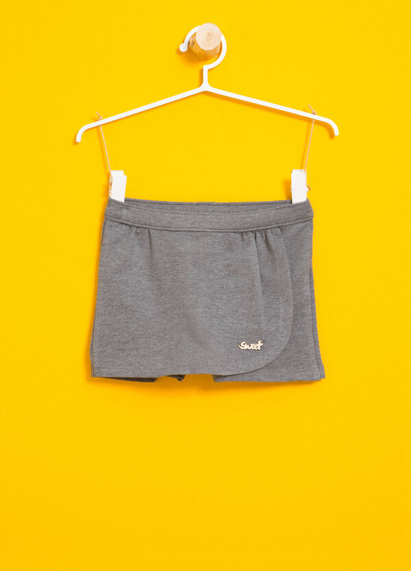Stretch cotton skort | OVS