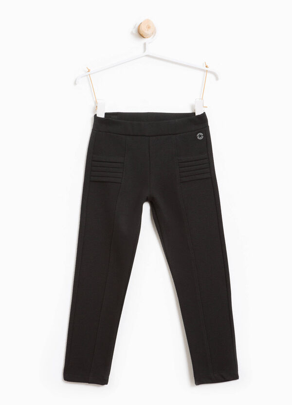 Viscose trousers with striped weave | OVS