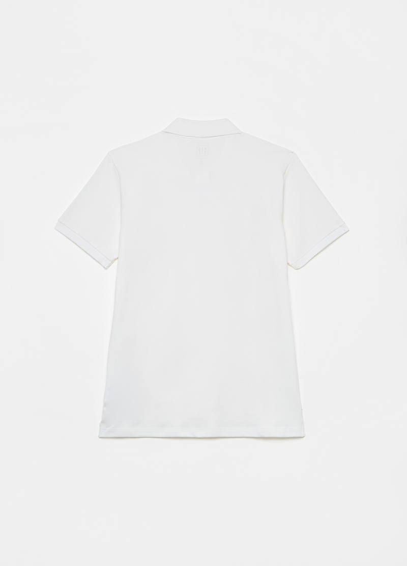 GAP piquet polo shirt with logo embroidery image number null