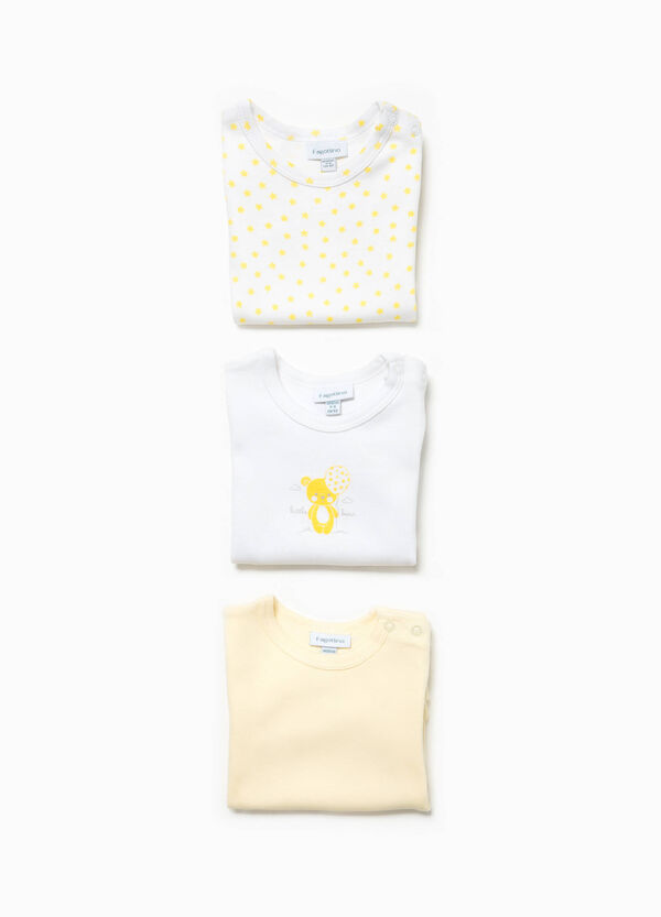 Three-pack organic cotton bodysuits with print | OVS