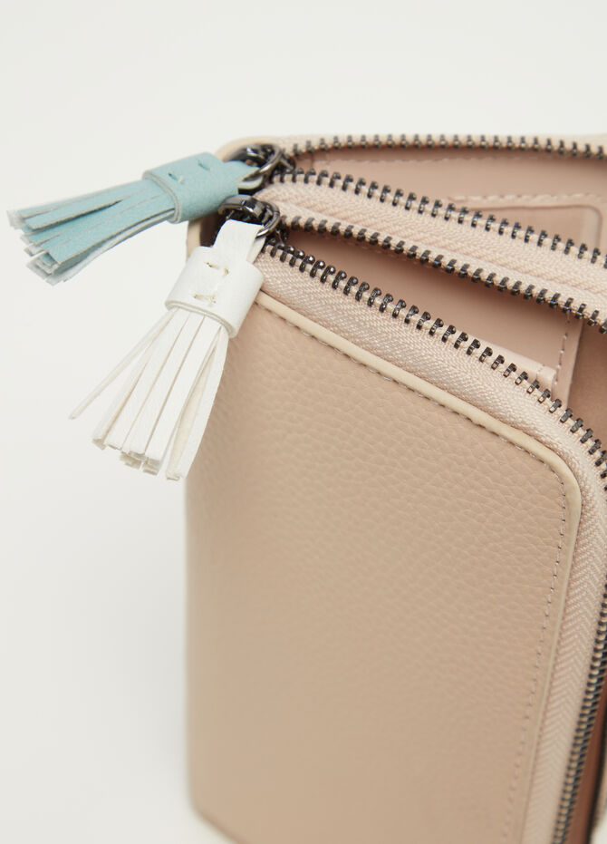Double purse with tassels