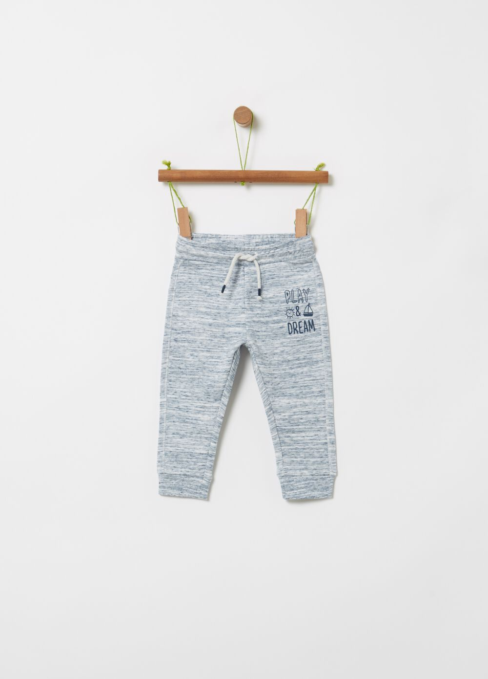 Mélange joggers with drawstring
