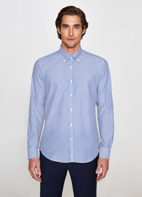 Camicia formale slim fit a righe