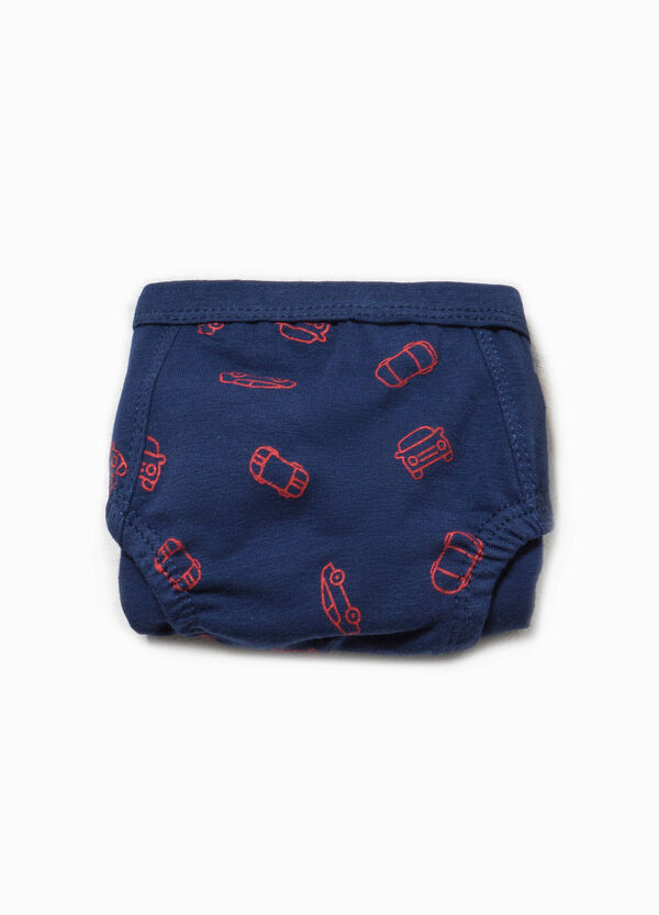 Car patterned briefs in stretch cotton | OVS