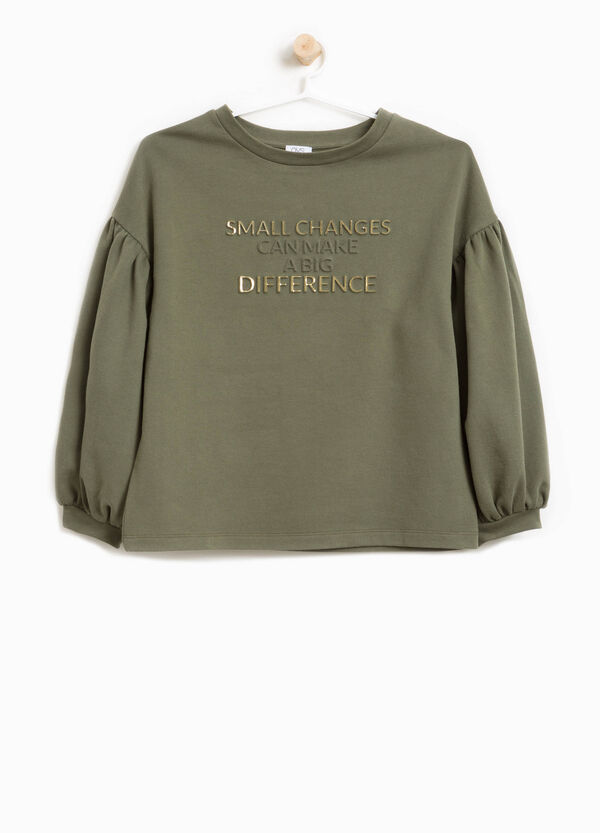 100% cotton sweatshirt with lettering patches | OVS