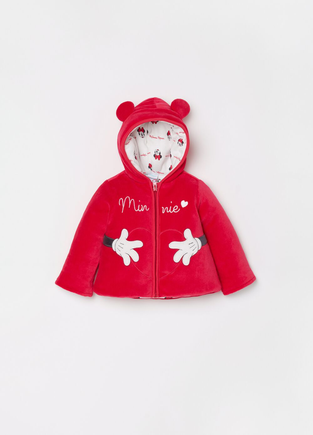 Padded jacket with Disney Minnie Mouse embroidery