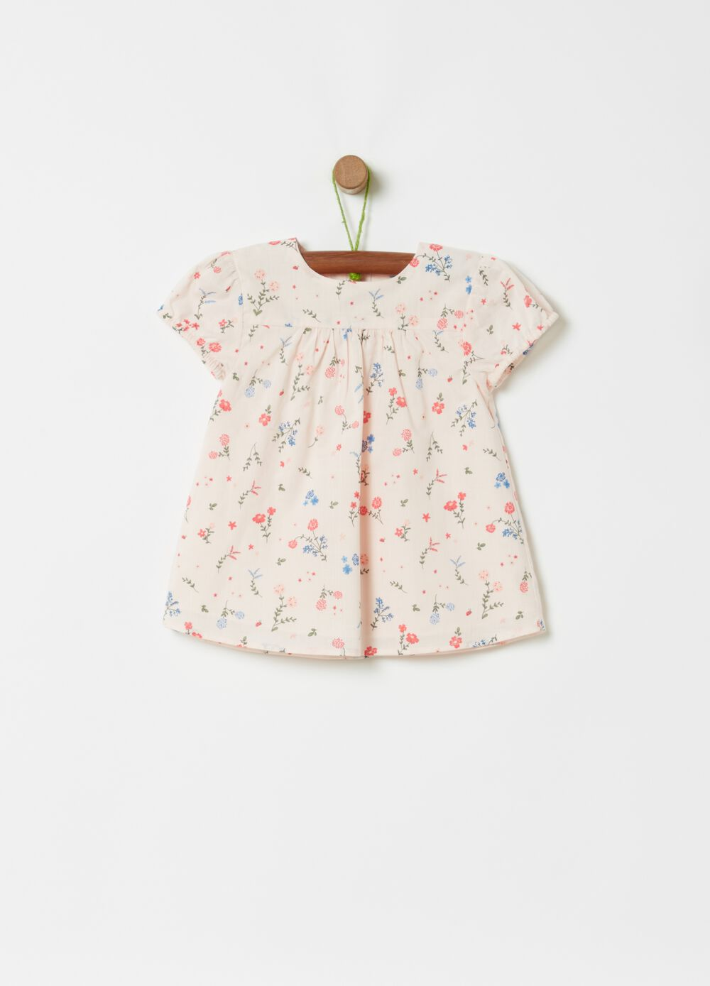 100% cotton blouse with all-over print