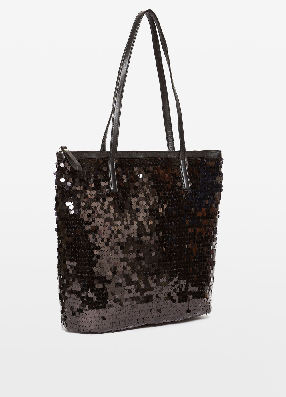Shopping bag with sequins