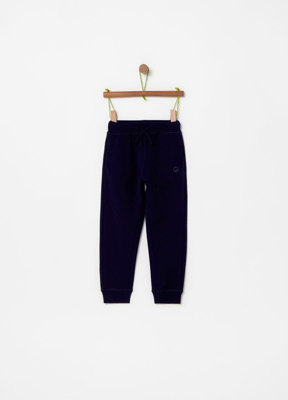 Stretch cotton jogger trousers