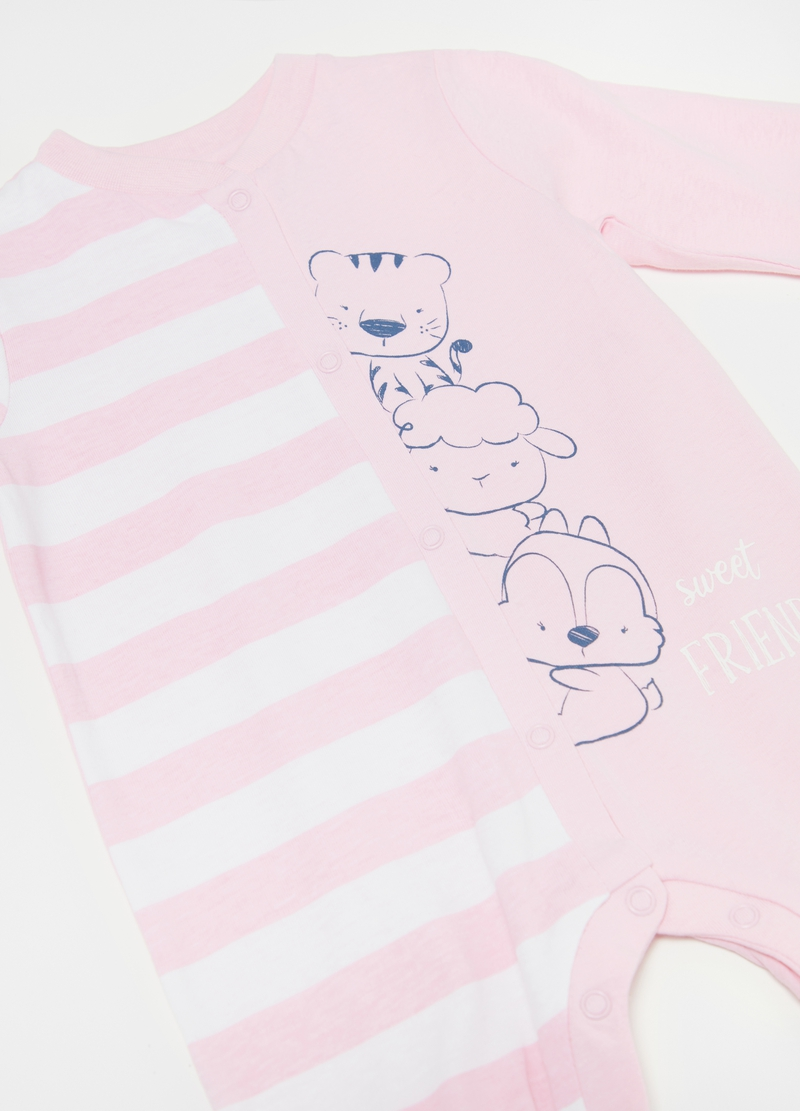 100% organic cotton onesie with feet image number null