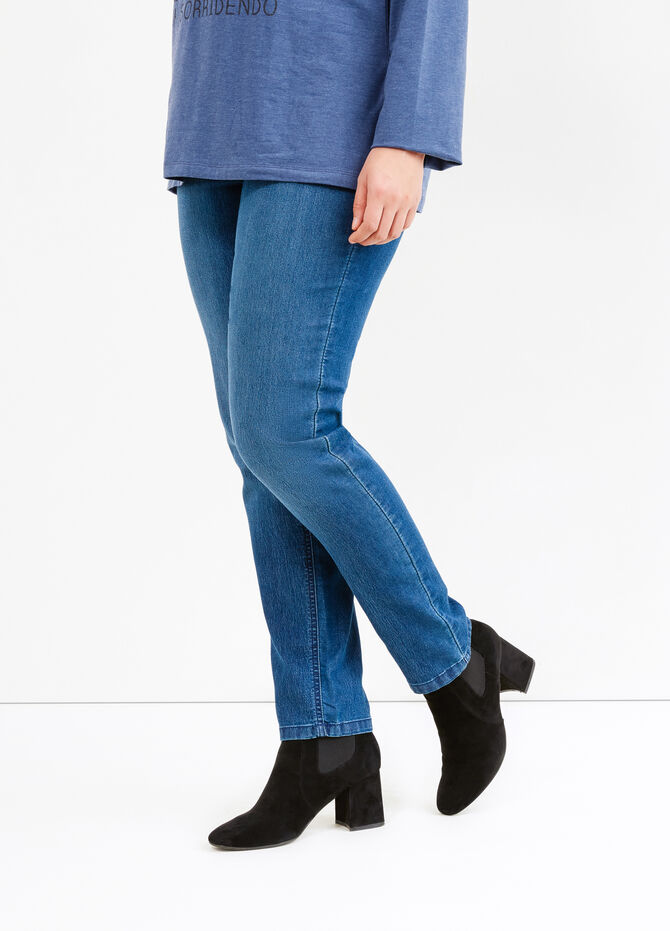 Curvy solid colour jeggings
