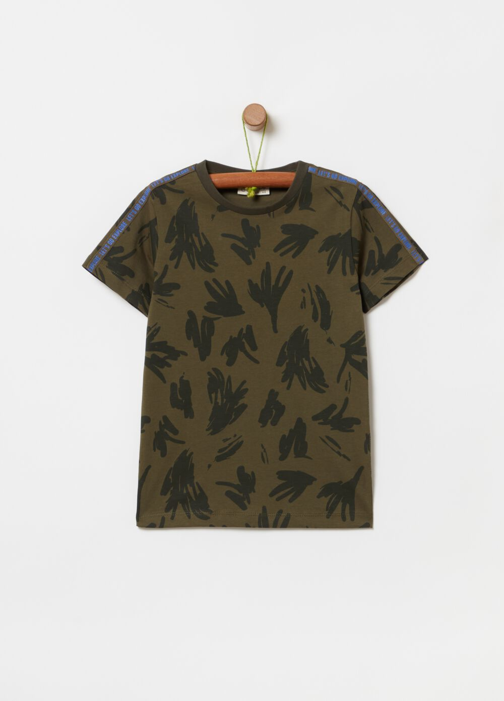 100% organic cotton T-shirt with pattern